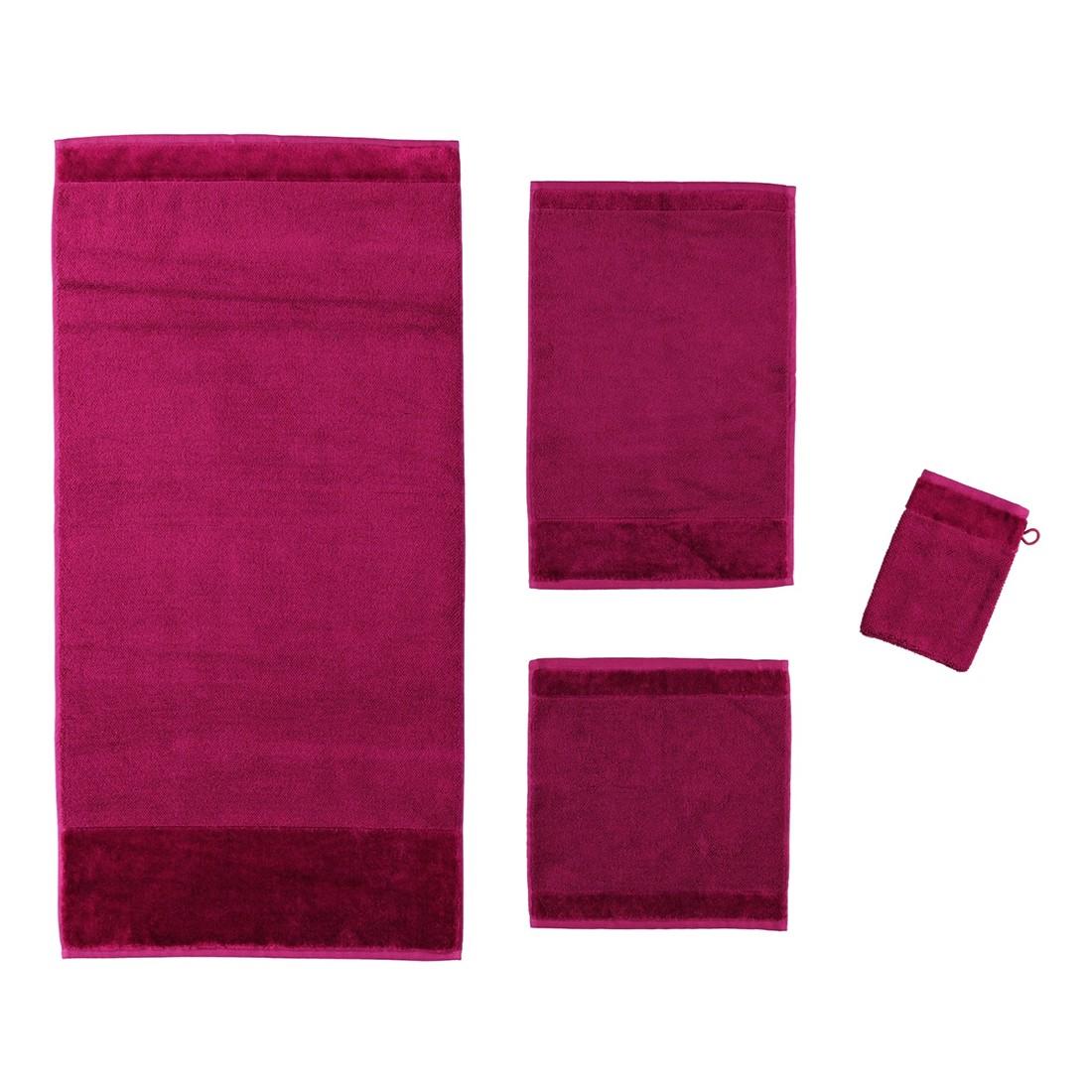 Handtuch Bamboo luxe – 60% Baumwolle, 40% Viskose berry – 266 – Handtuch: 50 x 100 cm, Möve günstig kaufen