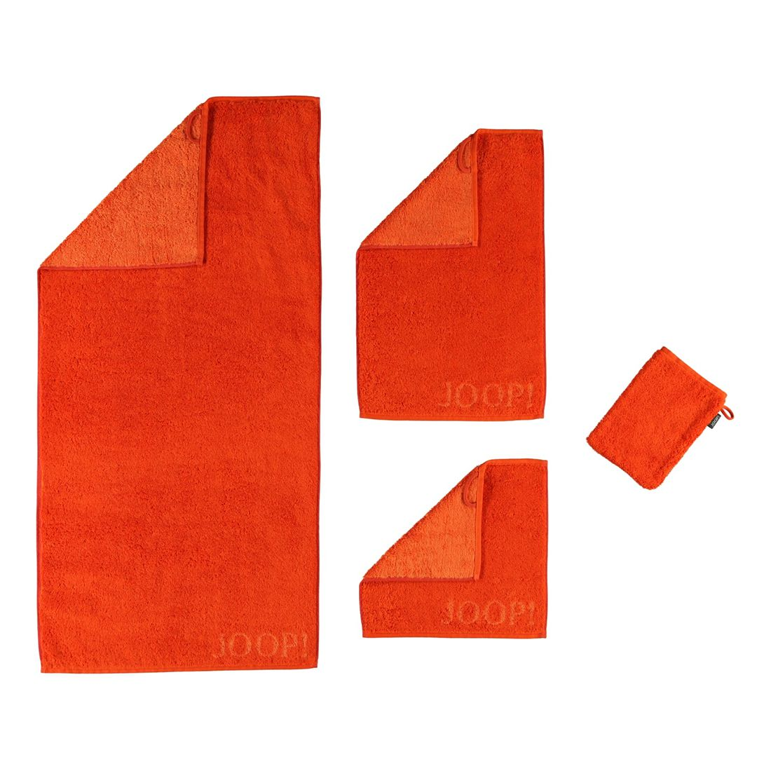 Handtuch Classic Doubleface – 100% Baumwolle papaya – 23 – Waschhandschuh: 16 x 22 cm, Joop günstig