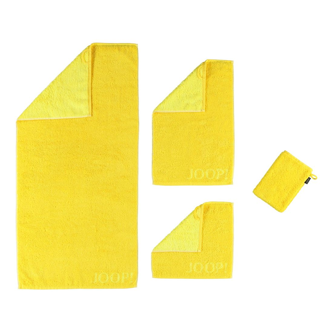 Handtuch Classic Doubleface – 100% Baumwolle sonnenGelb – 55 – Waschhandschuh: 16 x 22 cm, Joop günstig