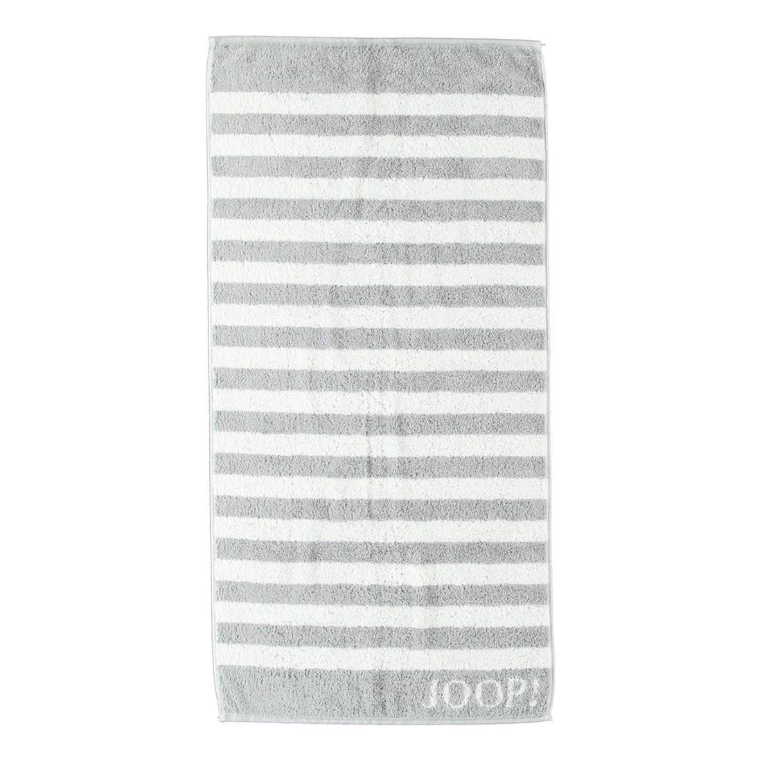 Handtuch Classic Stripes – 100% Baumwolle Silber – 76 – Handtuch: 50 x 100 cm, Joop günstig kaufen