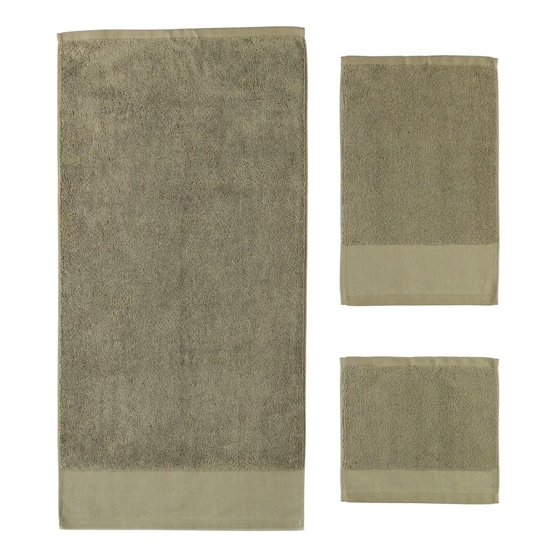 Handtuch Comtesse – 100% Baumwolle taupe – 58 – Gästetuch: 30 x 50 cm, Rhomtuft günstig kaufen
