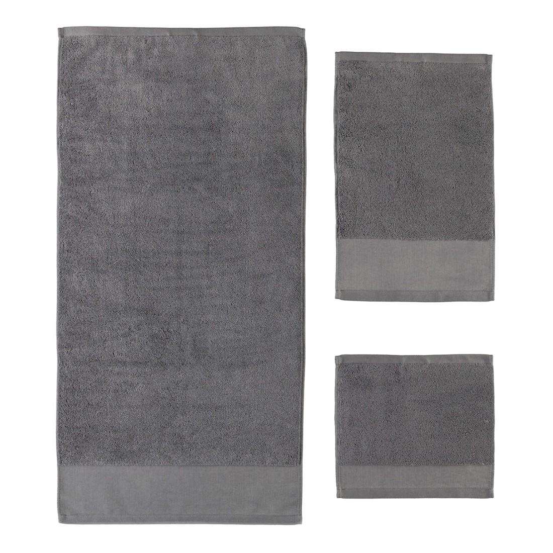 Handtuch Comtesse – 100% Baumwolle zinn – 02 – Saunatuch: 80 x 200 cm, Rhomtuft günstig