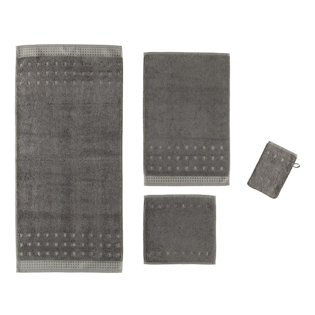 Handtuch Country Style – 100% Baumwolle slate grey – 742 – Seiflappen: 30 x 30 cm, Vossen jetzt kaufen