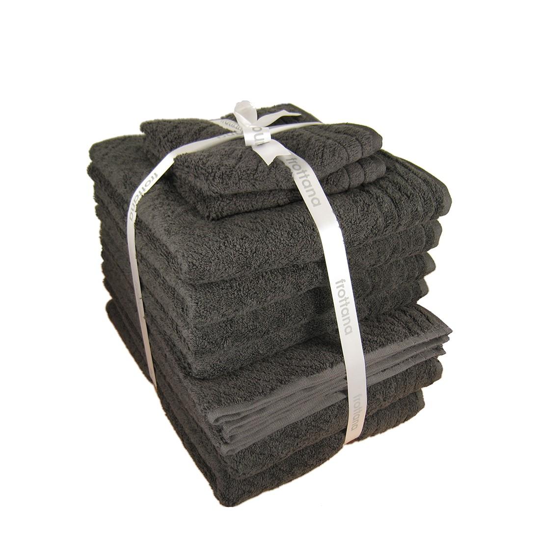 Handtuch-Elegance (12-teilig) – Graphit, frottana online kaufen