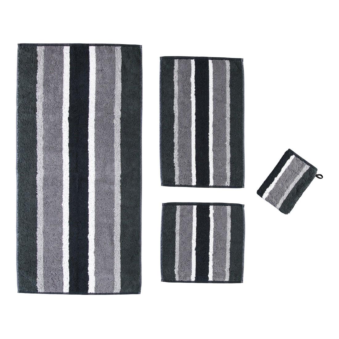 Handtuch Karat – 100% Baumwolle diamant-Schwarz – 77 – Handtuch: 50 x 100 cm, Cawö günstig bestellen
