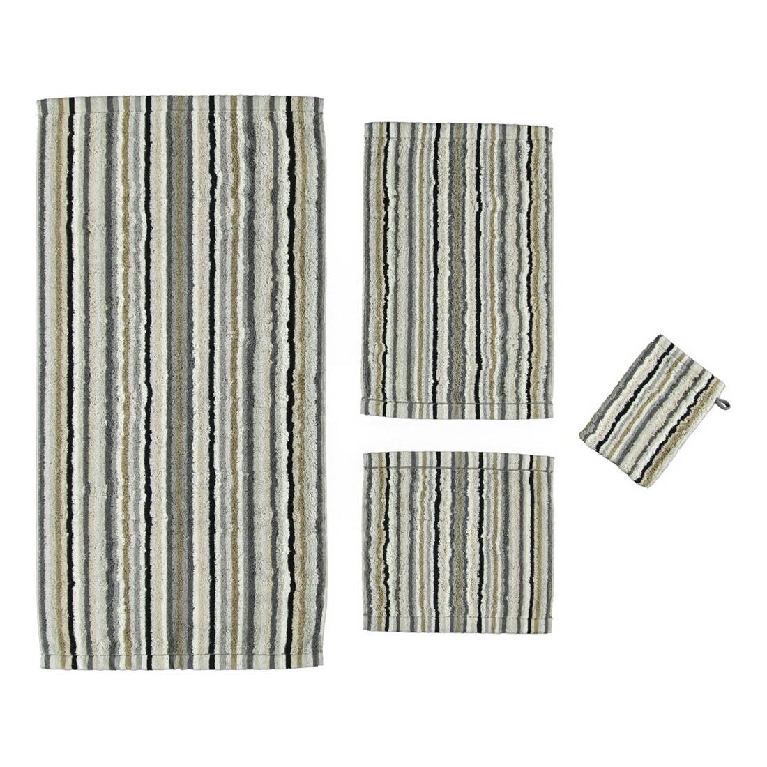 Handtuch Life Style Streifen – 100% Baumwolle kiesel – 37 – Gästetuch: 30 x 50 cm, Cawö günstig kaufen