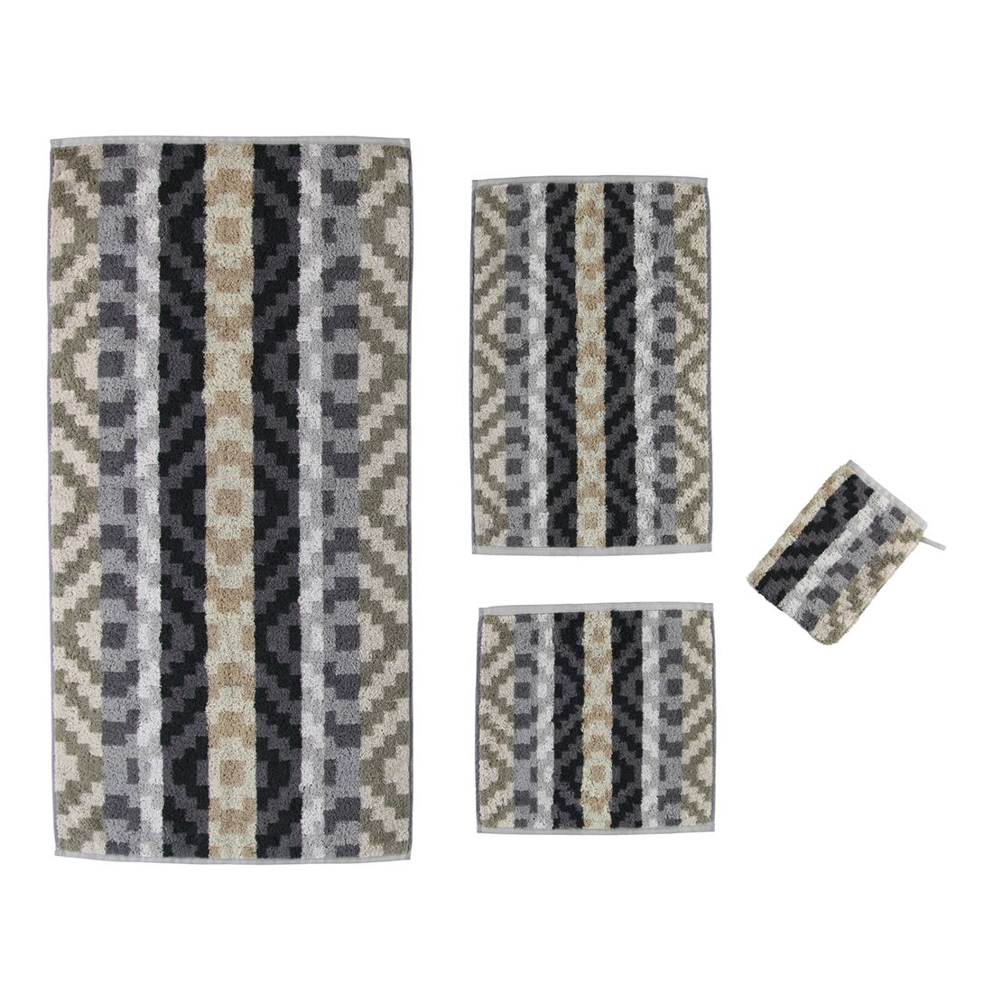 Handtuch Marrakesch – 100% Baumwolle stein – 33 – Gästetuch: 30 x 50 cm, Cawö kaufen