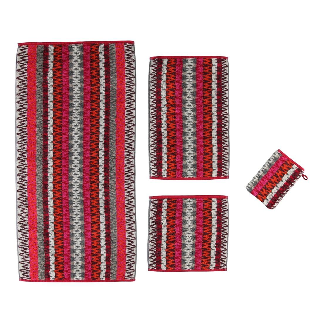 Handtuch Modena Allover – 100% Baumwolle granat – 22 – Duschtuch: 80 x 150 cm, Cawö günstig bestellen