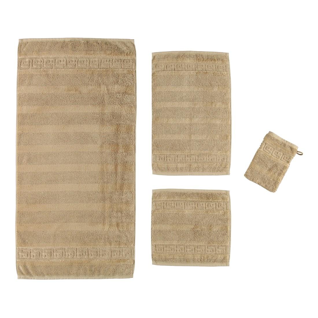 Handtuch Noblesse – 100% Baumwolle Beige – 350 – Handtuch: 50 x 100 cm, Cawö günstig online kaufen
