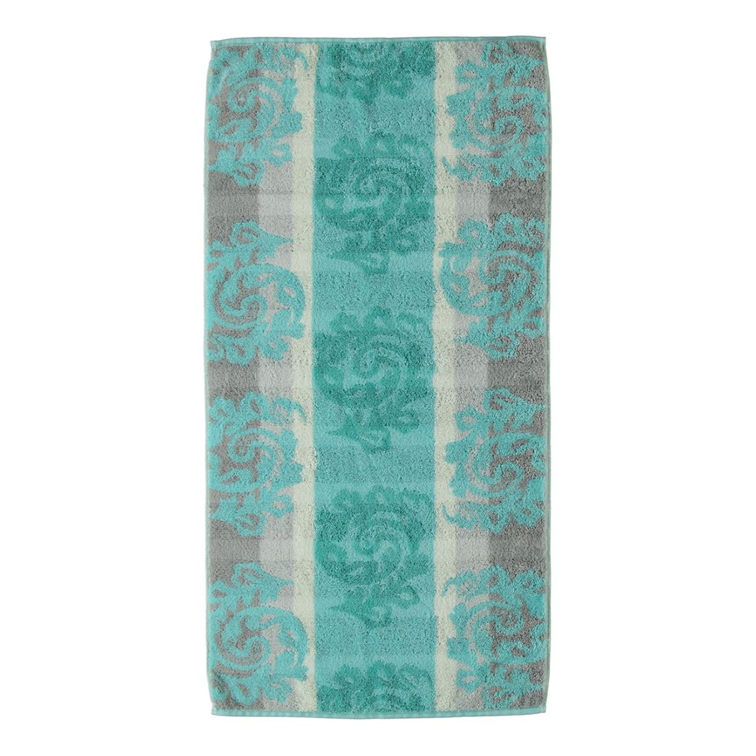 Handtuch Noblesse Cashmere Jacquard 1057 – 100% Baumwolle mint – 14 – Duschtuch: 80 x 150 cm, Cawö jetzt kaufen
