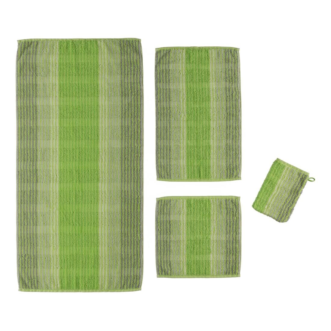 Handtuch Noblesse Cashmere Streifen 1056 – 100% Baumwolle kiwi – 45 – Duschtuch: 80 x 150 cm, Cawö jetzt bestellen