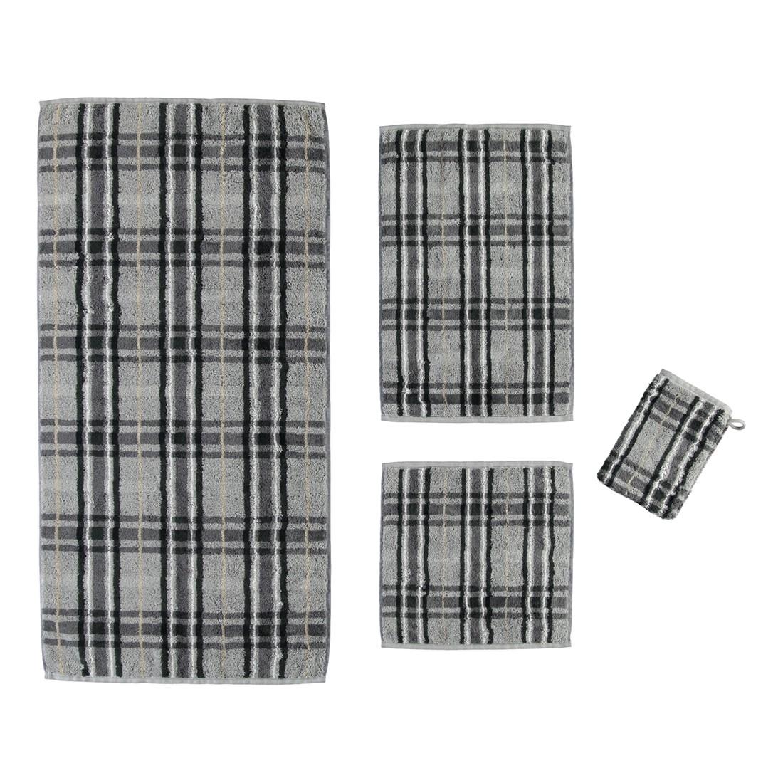 Handtuch Noblesse Check – 100% Baumwolle Grau– Anthrazit – 77 – Duschtuch: 80 x 150 cm, Cawö jetzt bestellen