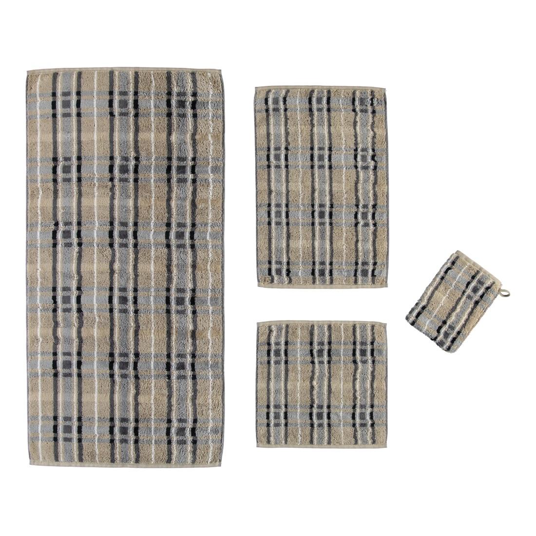Handtuch Noblesse Check – 100% Baumwolle Natur-graphit – 37 – Saunatuch: 80 x 200 cm, Cawö günstig