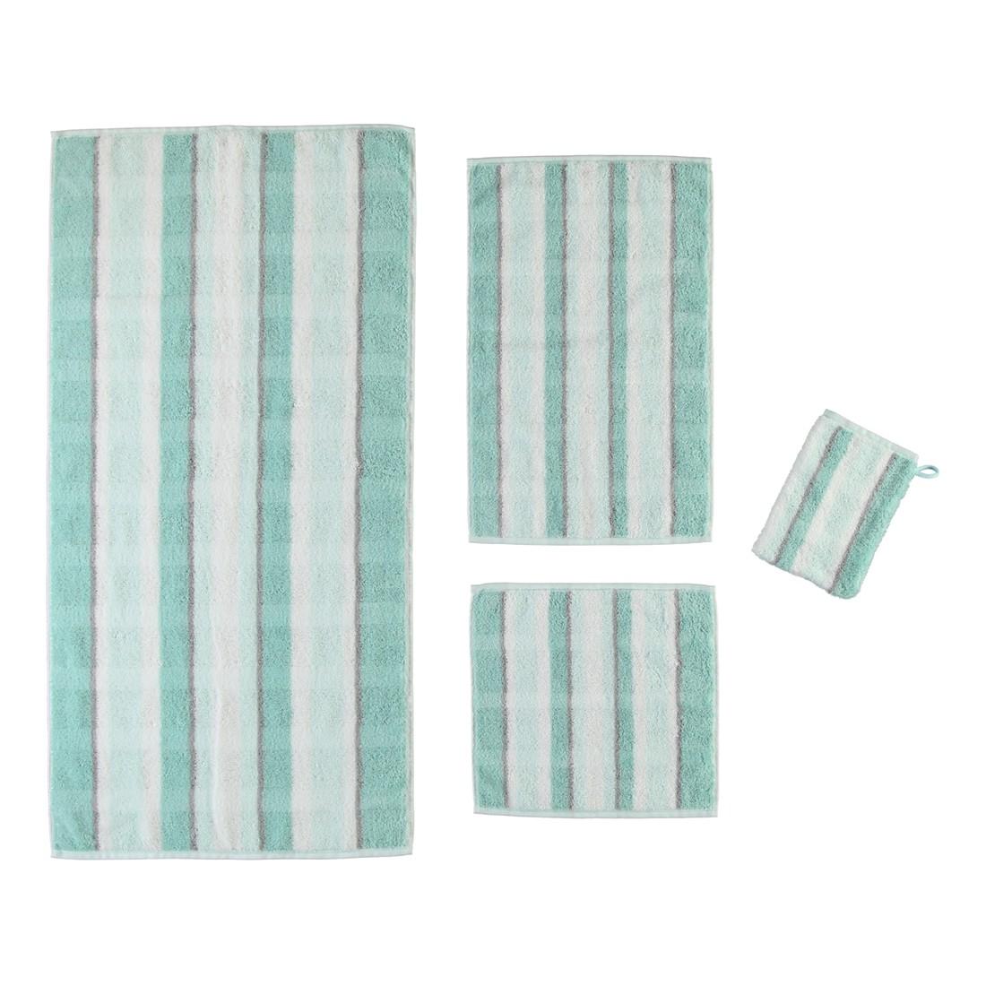 Handtuch Noblesse Perlmutt – 100% Baumwolle eisGrün – 44 – Handtuch: 50 x 100 cm, Cawö online bestellen