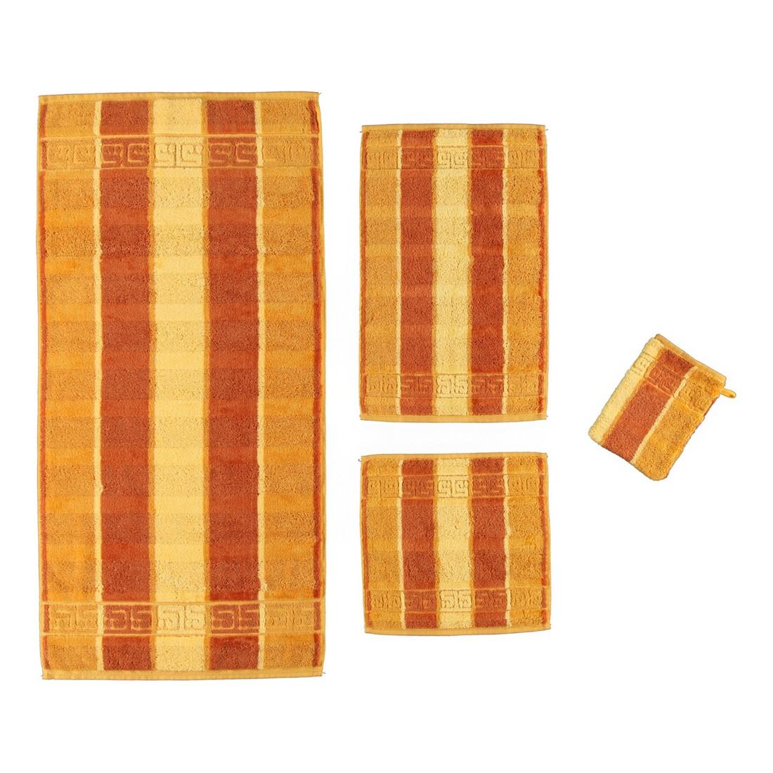 Handtuch Noblesse Streifen – 100% Baumwolle honig – 50 – Seiflappen: 30 x 30 cm, Cawö günstig kaufen
