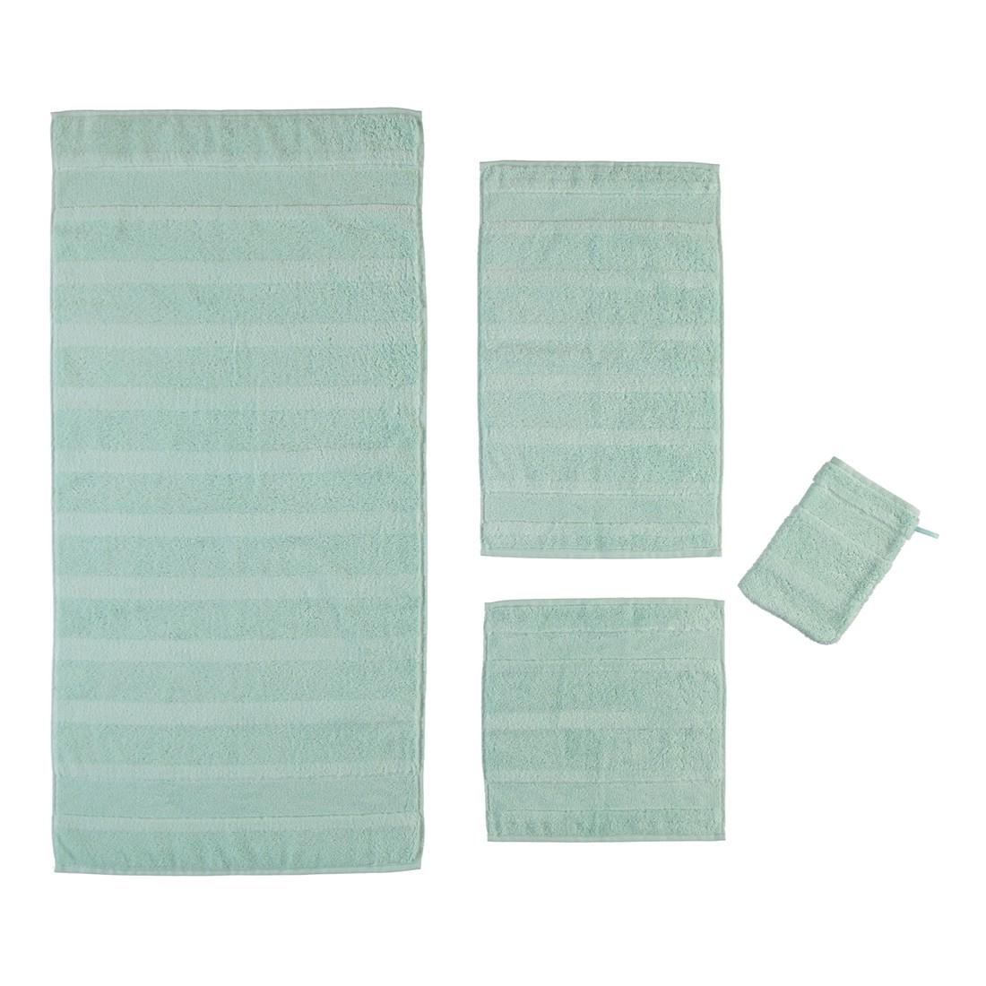 Handtuch Noblesse2 – 100% Baumwolle eisGrün – 411 – Gästetuch: 30 x 50 cm, Cawö jetzt kaufen
