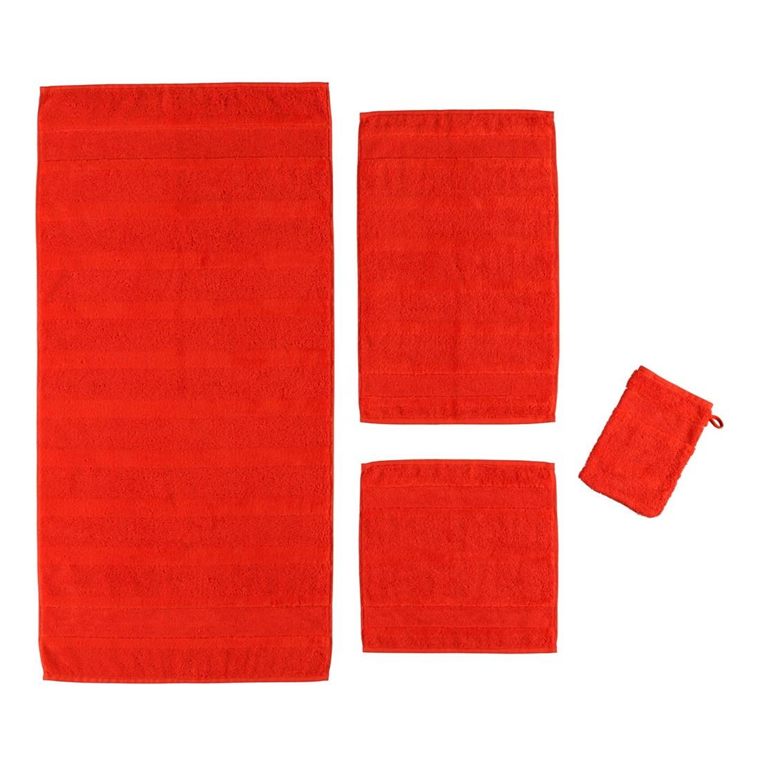 Handtuch Noblesse2 – 100% Baumwolle mohn – 208 – Gästetuch: 30 x 50 cm, Cawö günstig online kaufen