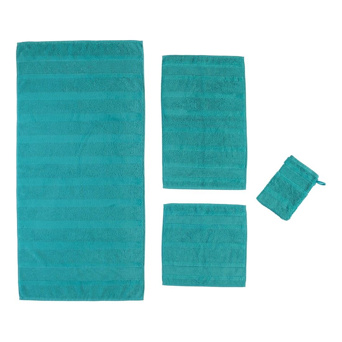 Handtuch Noblesse2 – 100% Baumwolle – Türkis – 430 – Gästetuch: 30 x 50 cm, Cawö bestellen