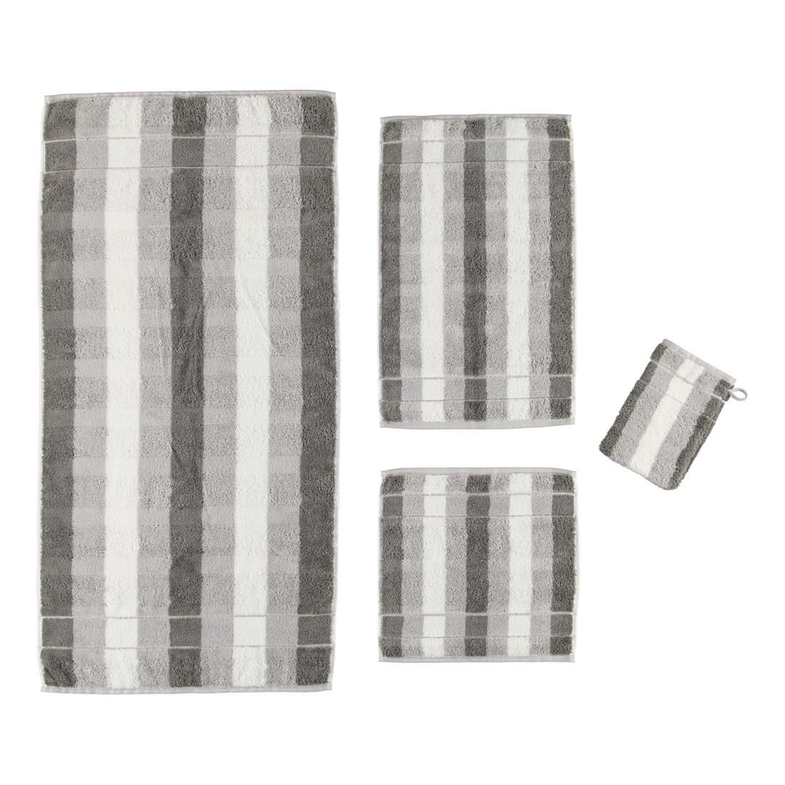 Handtuch Noblesse2 Blockstreifen – 100% Baumwolle graphit – 76 – Handtuch: 50 x 100 cm, Cawö günstig online kaufen