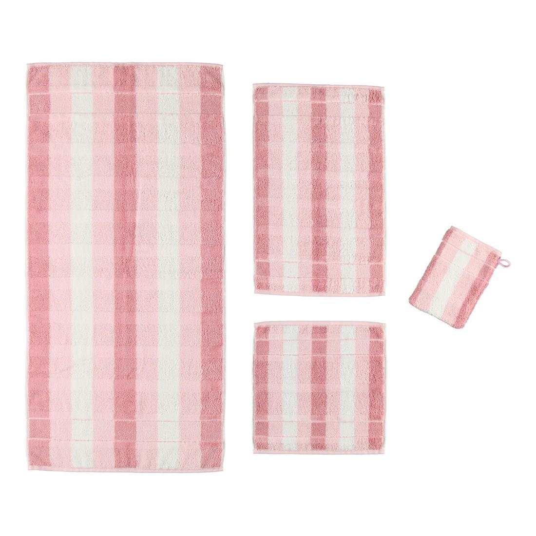 Handtuch Noblesse2 Blockstreifen – 100% Baumwolle Rosé – 26 – Gästetuch: 30 x 50 cm, Cawö günstig kaufen