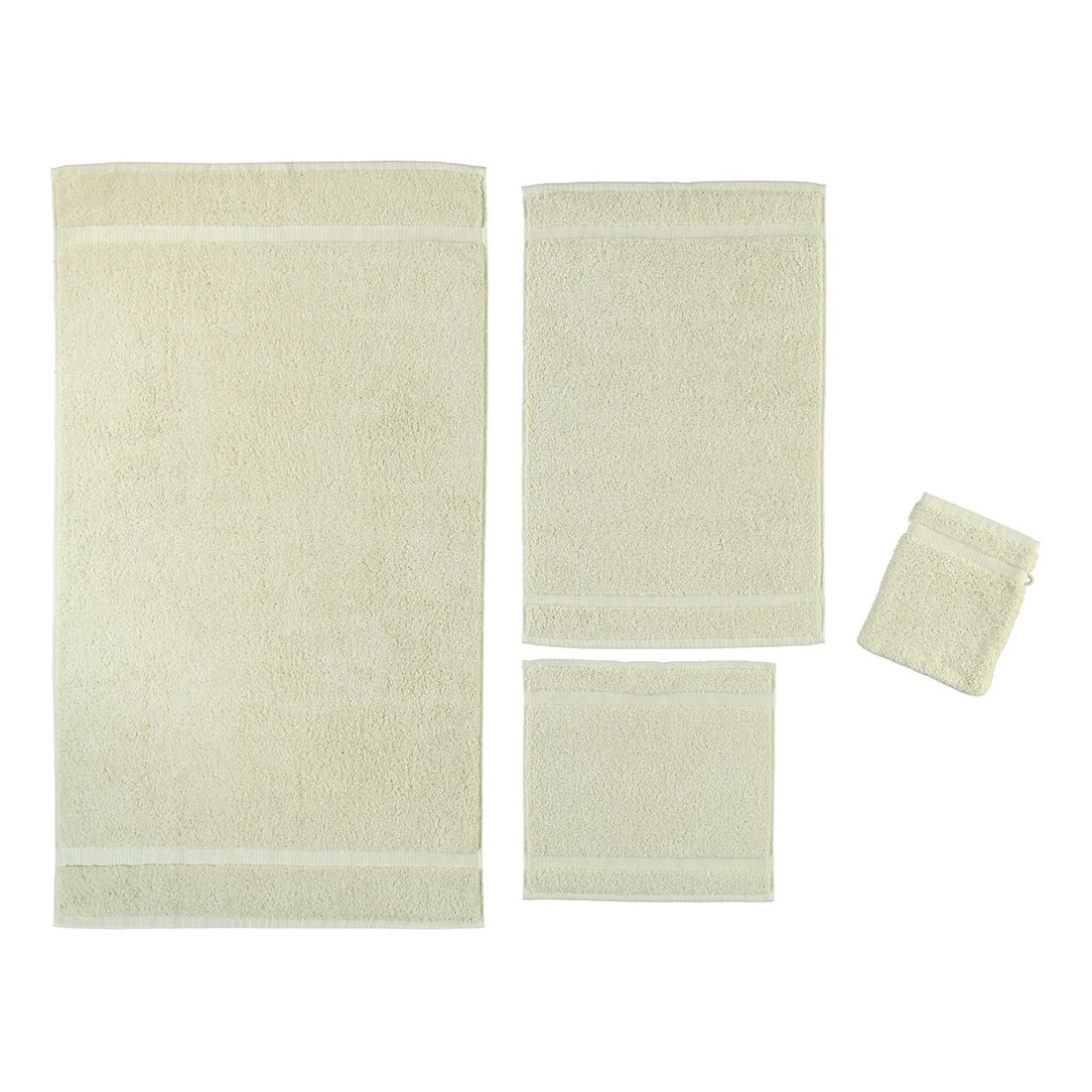 Handtuch Princess – 100% Baumwolle – Beige – 42 – Seiflappen: 30 x 30 cm, Rhomtuft bestellen