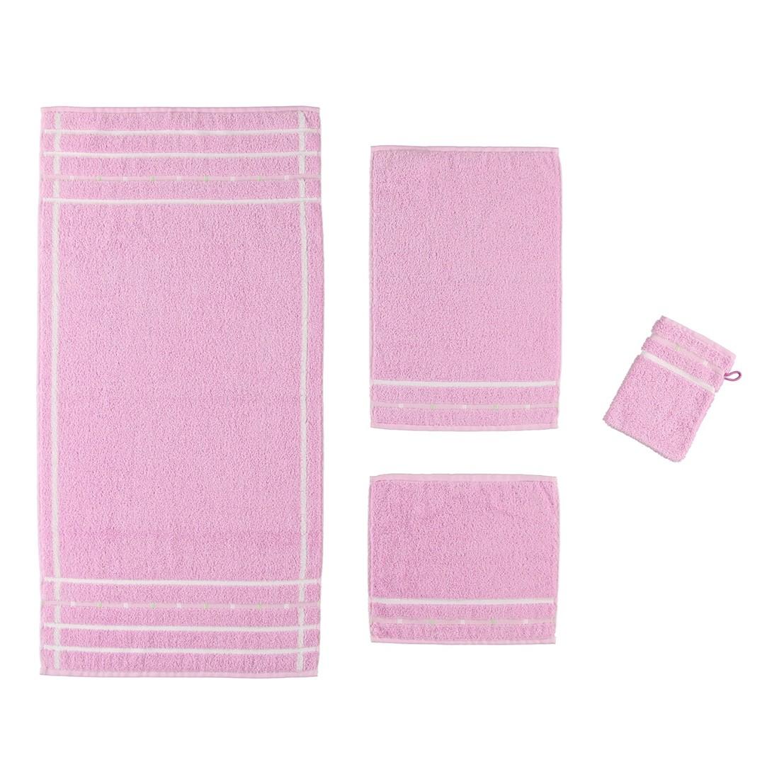 Handtuch Quadrati – 100% Baumwolle Flieder/Weiß – 023 – Handtuch: 60 x 110 cm, Vossen jetzt kaufen