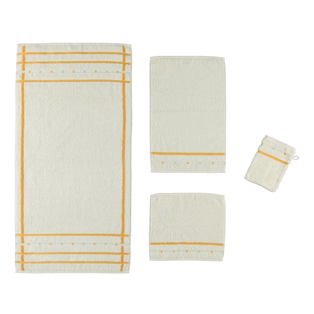Handtuch Quadrati – 100% Baumwolle ivory/Melon- 004 – Gästetuch: 30 x 50 cm, Vossen bestellen