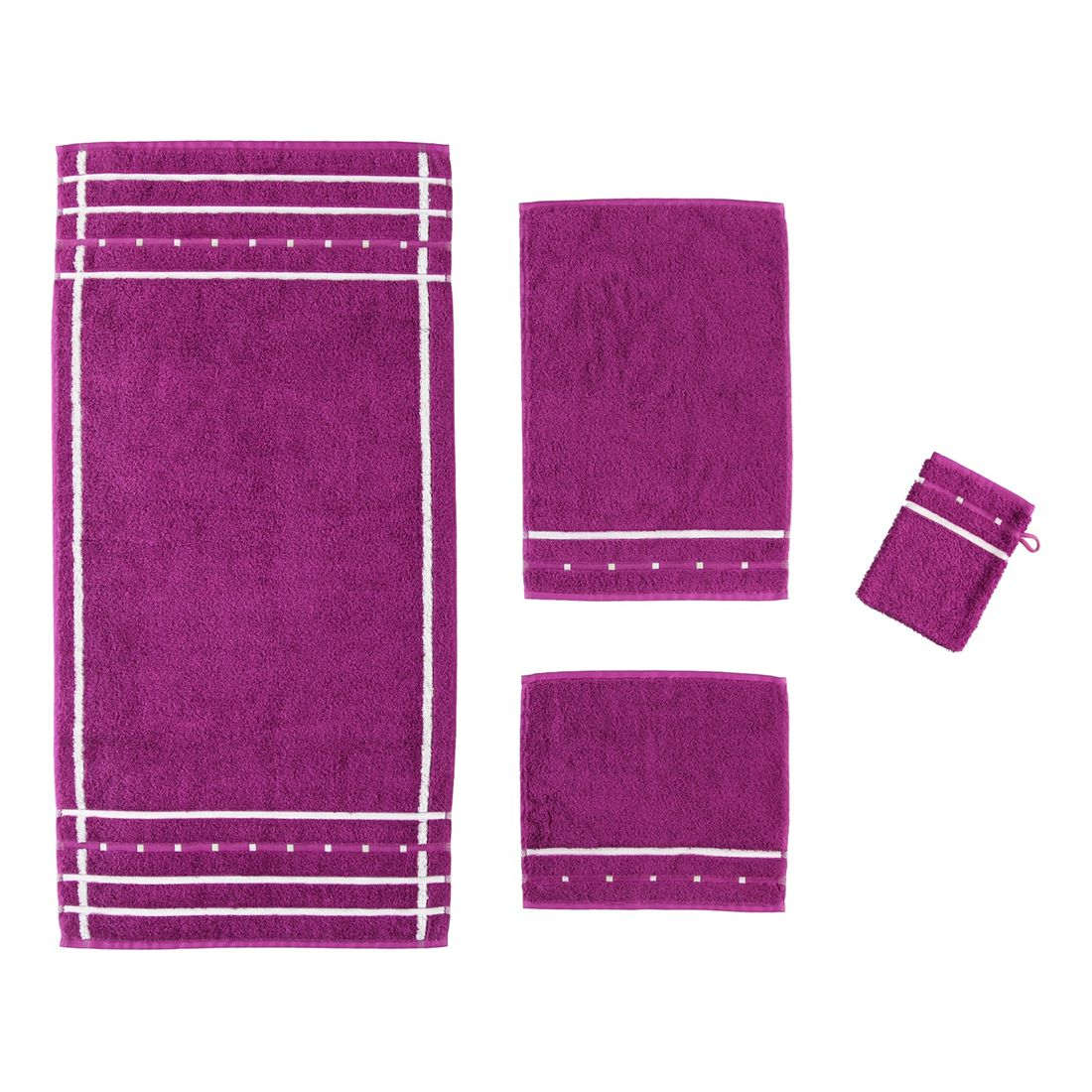Handtuch Quadrati – 100% Baumwolle Purple/Weiß – 047 – Handtuch: 50 x 100 cm, Vossen jetzt kaufen