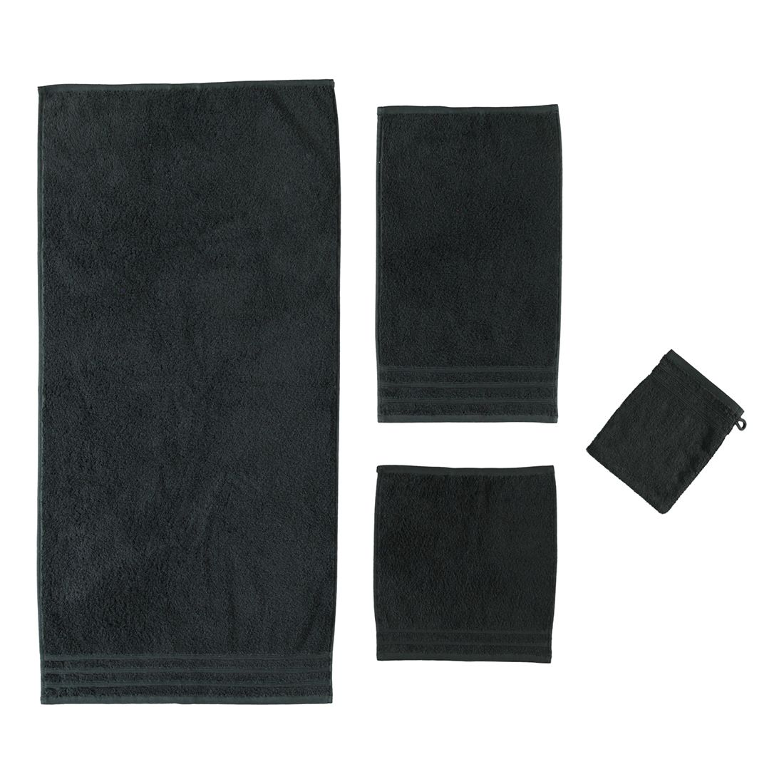 Handtuch Royal - 100% Baumwolle Schwarz - 926 - Duschtuch: 70 x 140 cm, Kleine Wolke