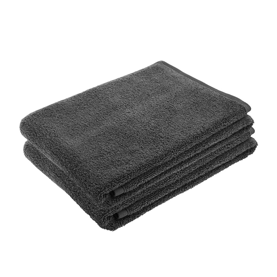 Handtuch-Set PURE (2-teilig) – 100% Baumwolle – Grau, stilana jetzt bestellen