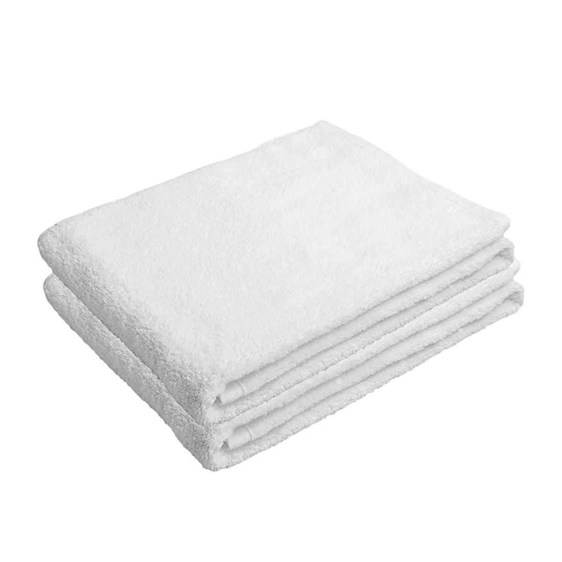 Handtuch-Set PURE (2-teilig) – 100% Baumwolle – Weiß, stilana kaufen