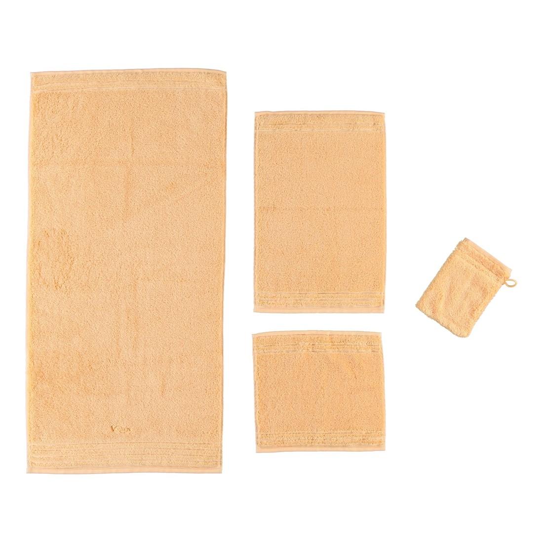 Handtuch Vienna Style Supersoft – 100% Baumwolle apricot – 220 – Badetuch: 100 x 150 cm, Vossen günstig