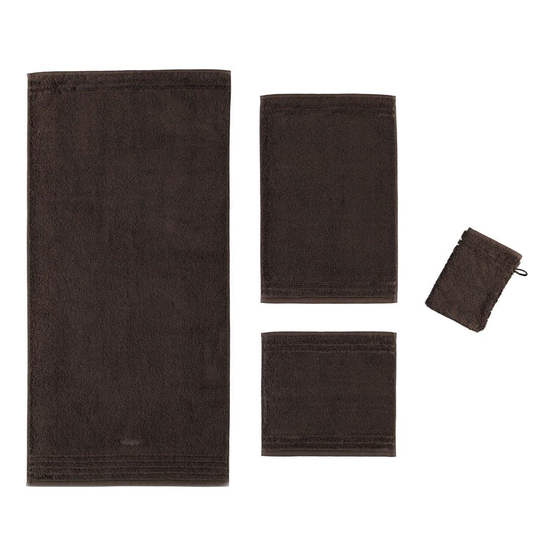 Handtuch Vienna Style Supersoft – 100% Baumwolle dark brown – 693 – Gästetuch: 30 x 50 cm, Vossen günstig