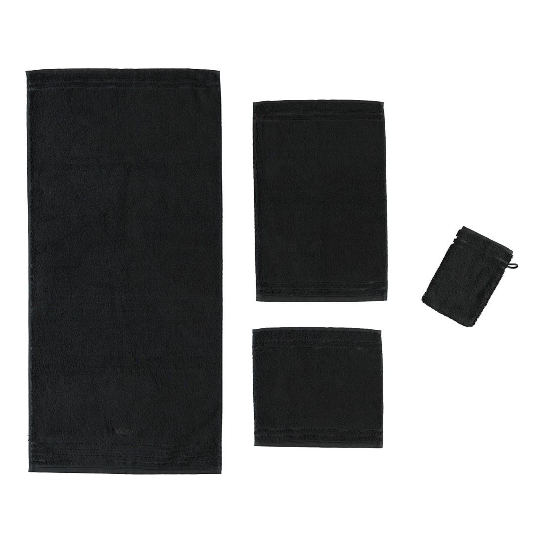 Handtuch Vienna Style Supersoft – 100% Baumwolle Schwarz – 790 – Seiflappen: 30 x 30 cm, Vossen jetzt bestellen