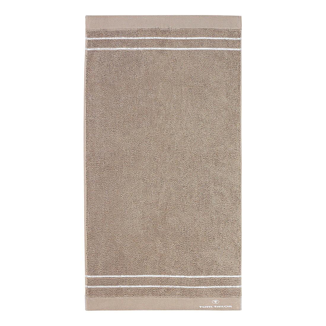 Handtuch Wellness Walk-Frottier II – Beige – Handtuch: 50 x 100 cm, Tom Tailor online bestellen