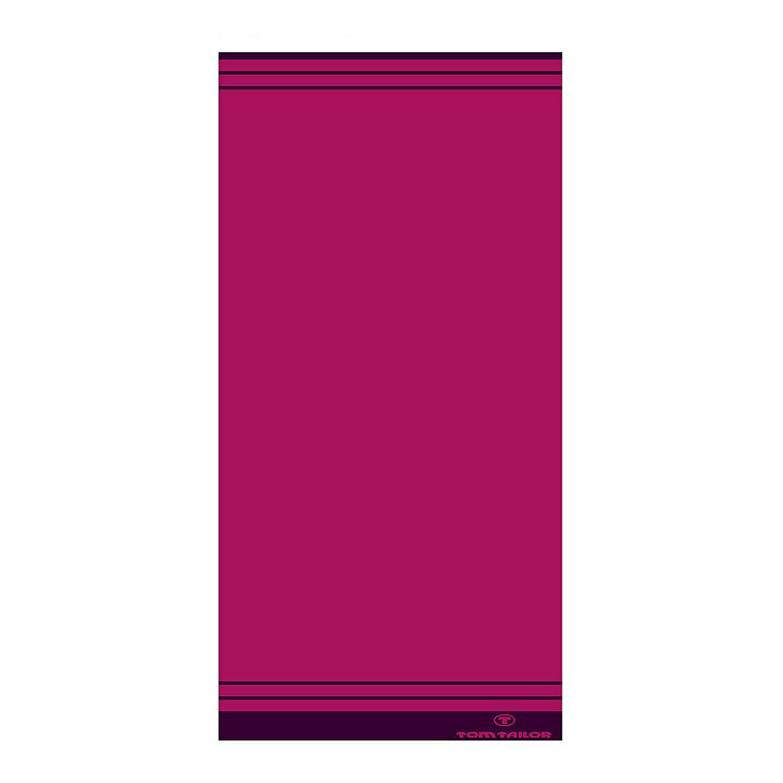 Handtuch Wellness Walk-Frottier II – Pink – Handtuch: 50 x 100 cm, Tom Tailor günstig