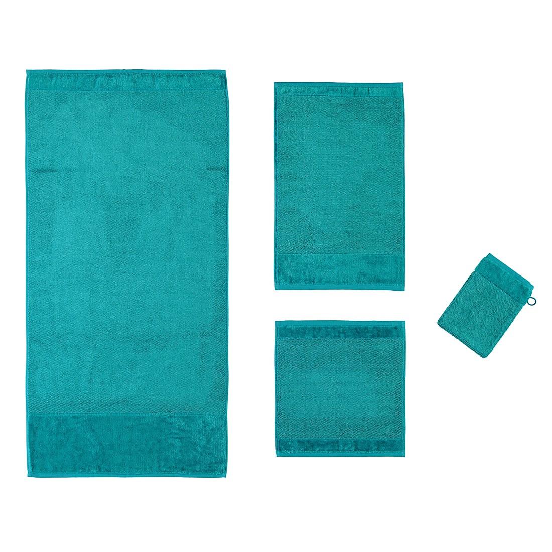 Handtücher Bamboo Luxe – Baumwolle/Viskose – Ocean – Seiflappen 30×30 cm, Möve günstig bestellen