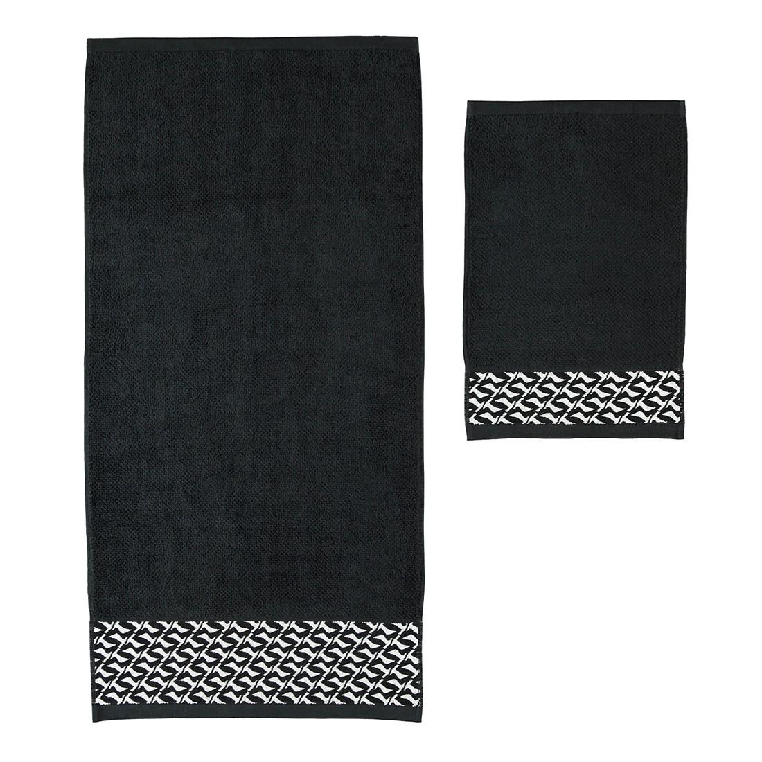 Handtücher Black & White Kontrast – Baumwolle – Black – Duschtuch 80×150 cm, Möve günstig