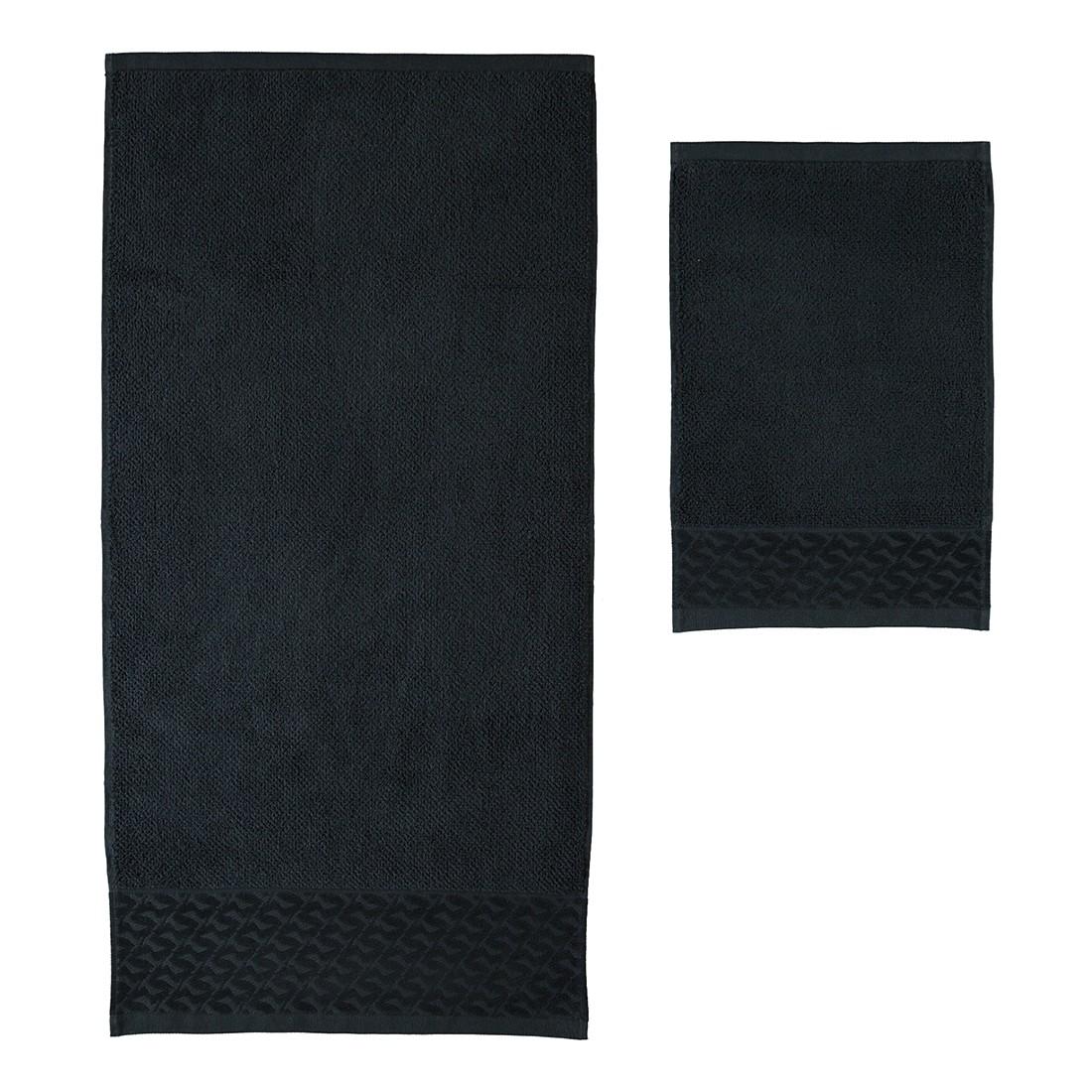 handt cher black white uni baumwolle black. Black Bedroom Furniture Sets. Home Design Ideas