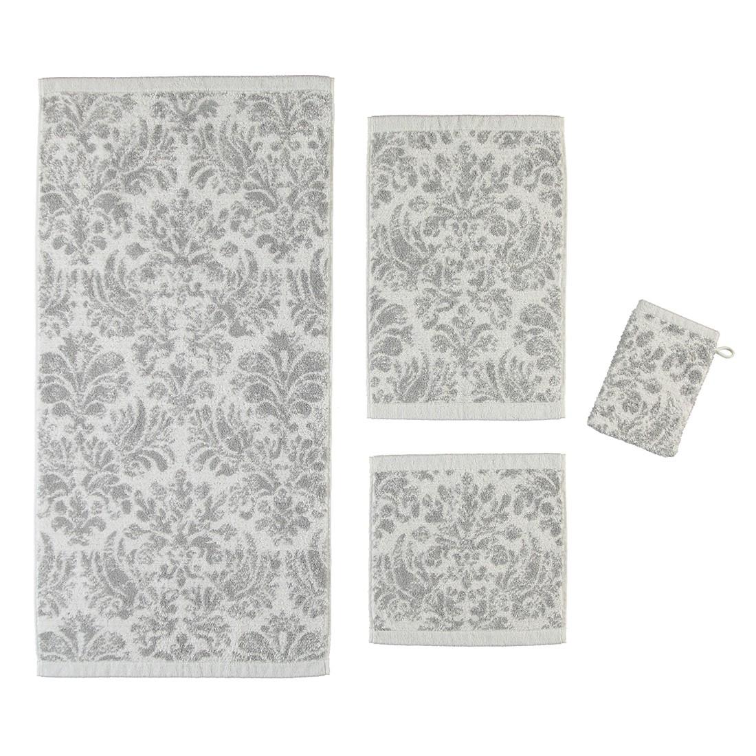 Handtücher Contour Jacquard 8082 – Baumwolle – Silber – Handtuch 50×100 cm, Cawö jetzt bestellen