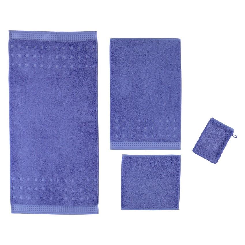 Handtuch Country Style – 100% Baumwolle blue mauve – 849 – Gästetuch 40 x 60 cm, Vossen jetzt kaufen