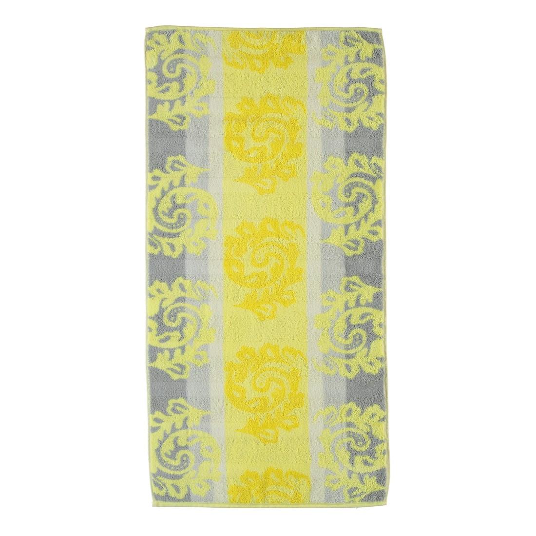 handt cher noblesse cashmere jacquard 1057 baumwolle gelb handtuch 50x100 cm caw online. Black Bedroom Furniture Sets. Home Design Ideas