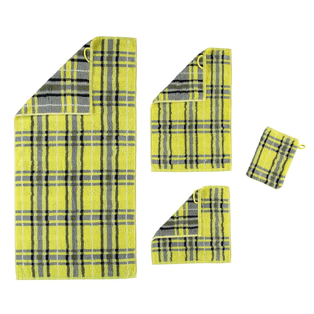 Handtücher Noblesse Check 1062 – Baumwolle – Zitrus – Gästetuch 30×50 cm, Cawö online kaufen