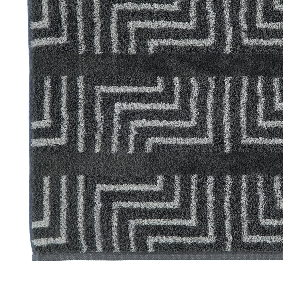 Handtücher Noblesse Decor Jacquard 1066 – Baumwolle – Anthrazit – Waschhandschuh 16×22 cm, Cawö online kaufen