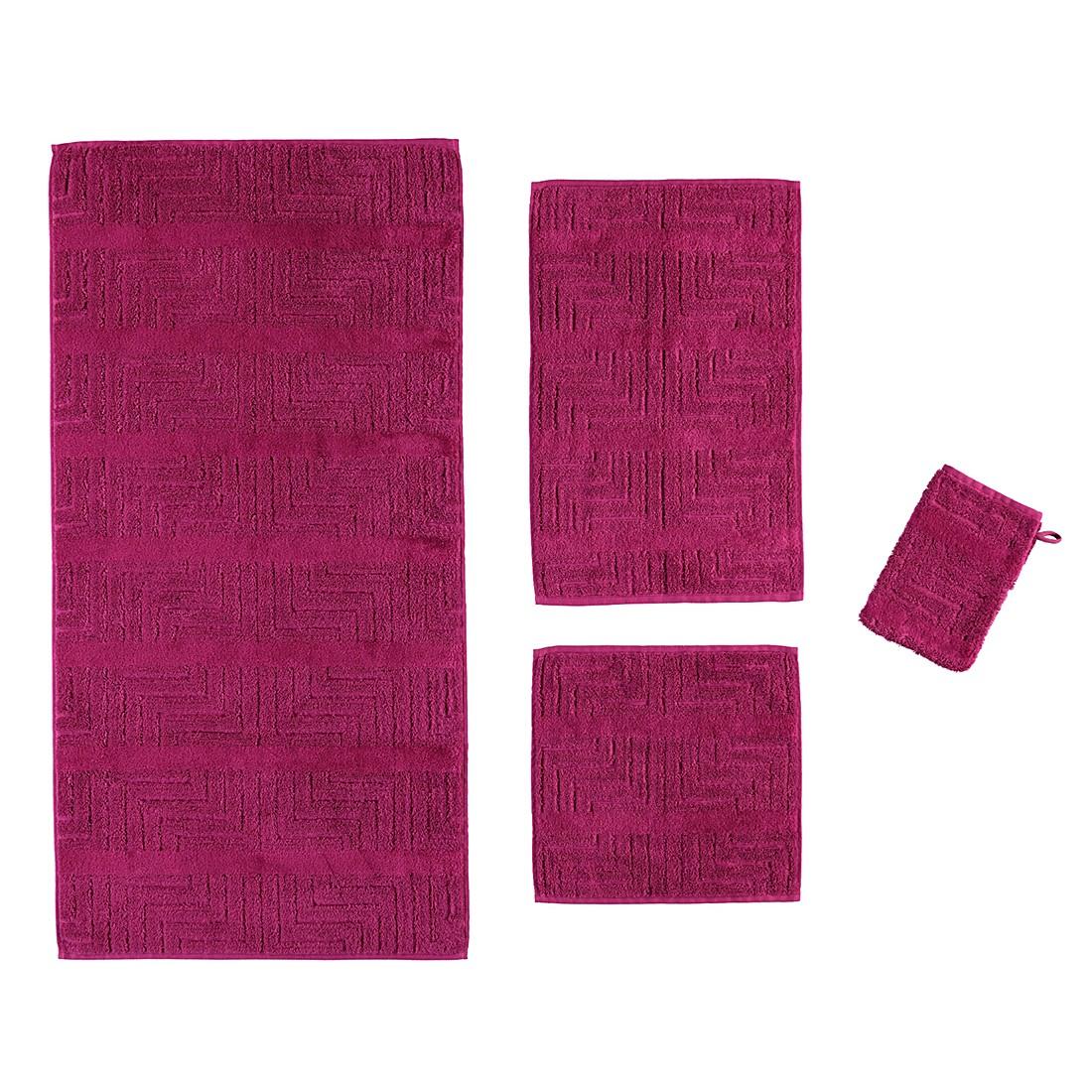 Handtücher Noblesse Decor Struktur 1065 – Baumwolle – Fuchsia – Waschhandschuh 16×22 cm, Cawö online bestellen