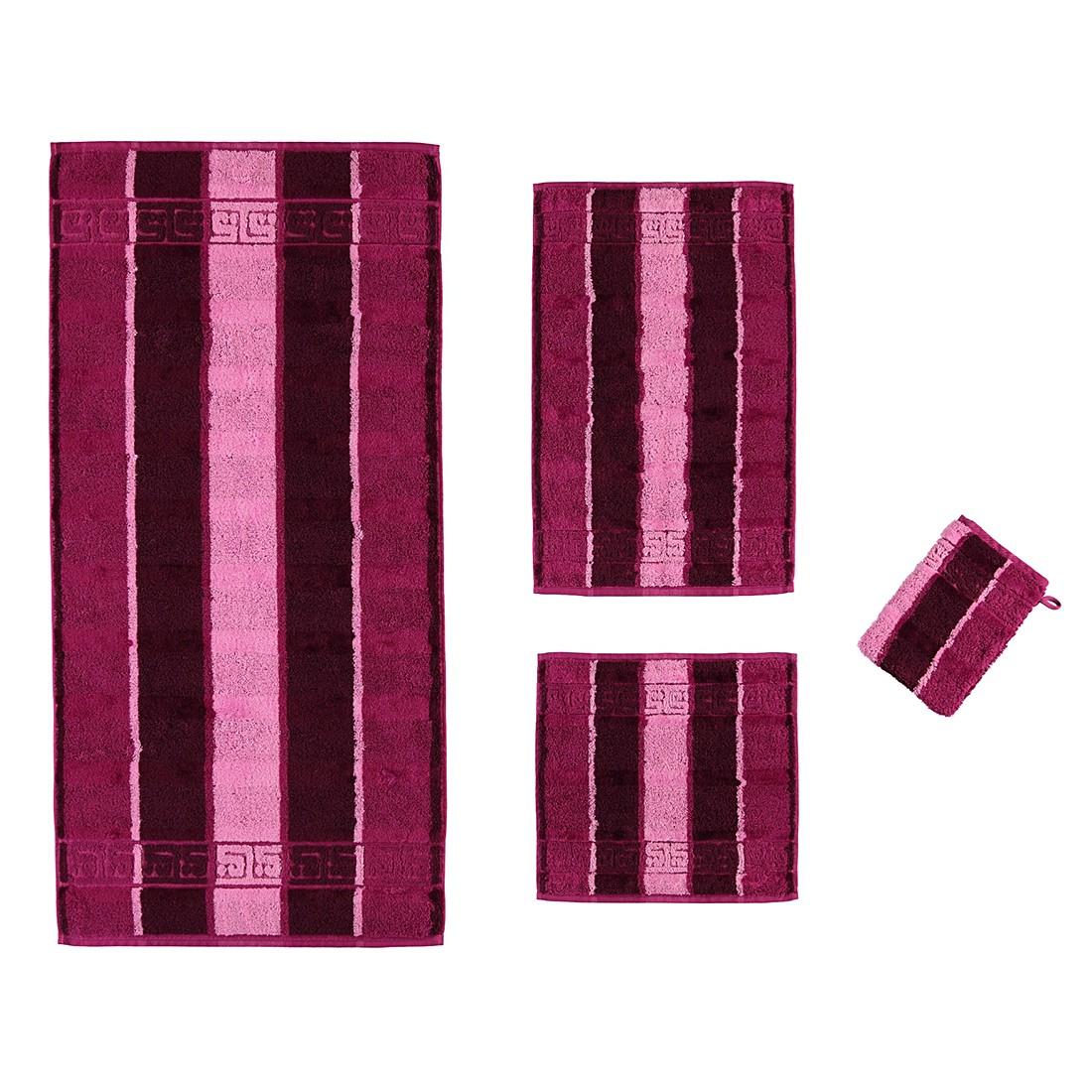 Handtücher Noblesse Streifen 1047 – Baumwolle – Fuchsia – Gästetuch 30×50 cm, Cawö online bestellen