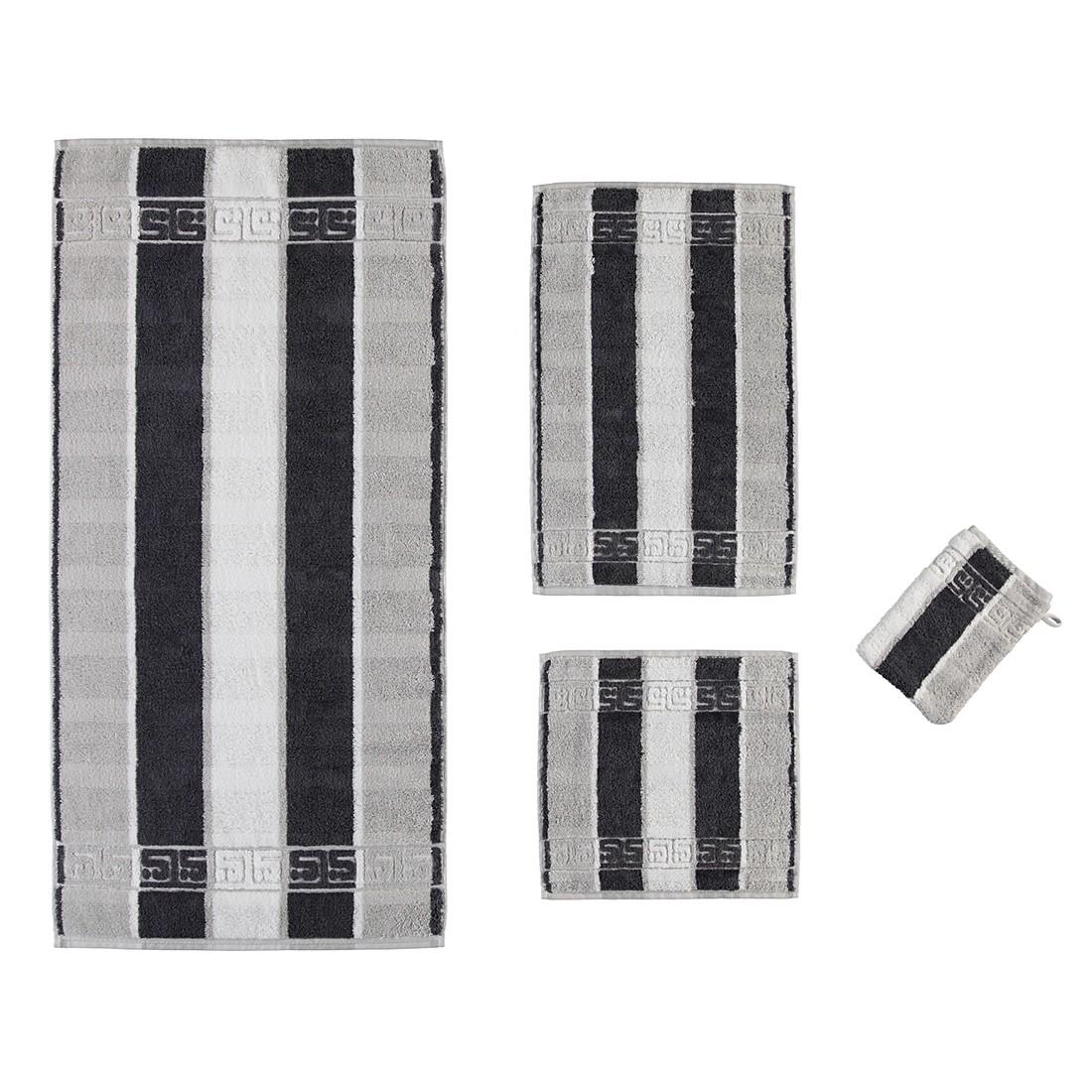 Handtücher Noblesse Streifen 1047 – Baumwolle – Platin – Gästetuch 30×50 cm, Cawö jetzt kaufen