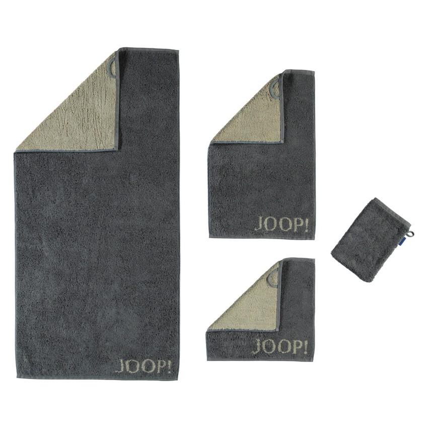 Handtuch Plaza Doubleface 1631 – 100% Baumwolle Cappuccino – 77 – Waschhandschuh 16 x 22 cm, Joop jetzt bestellen