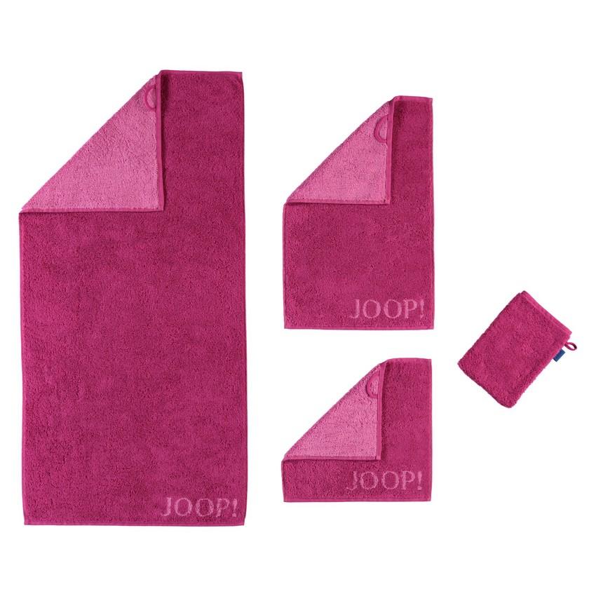 Handtuch Plaza Doubleface 1631 – 100% Baumwolle cassis – 22 – Waschhandschuh 16 x 22 cm, Joop online bestellen