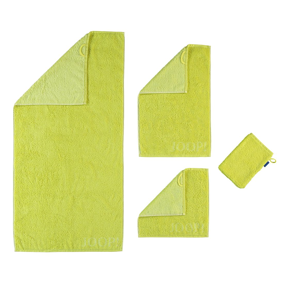 Handtücher Plaza Doubleface 1631 – Baumwolle – Limone – Gästetuch 30×50 cm, Joop günstig